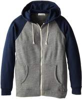 Threads 4 Thought Men's Big-Tall Contrast Raglan Zip Hoodie