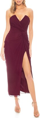 Katie May Come On Home Clip Dot Strapless Dress