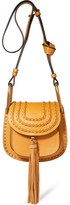 Chloé Hudson Mini Whipstitched Leather Shoulder Bag - Saffron