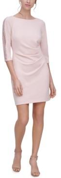 Jessica Howard Petite Lace-Trim Sheath Dress