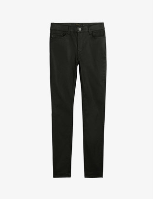 Ted Baker Lethera wet-look stretch-cotton skinny jeans