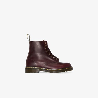 Dr. Martens Burgundy Red 1460 Vintage Leather Boots