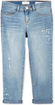 Jessica Simpson Distressed Rolled Crop Jeans, Big Girls (7-16)