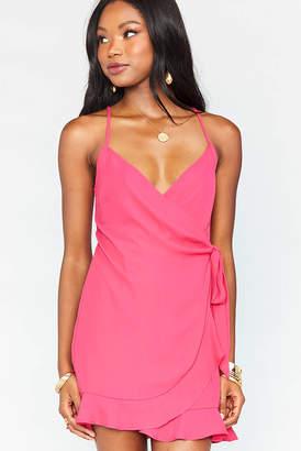 Show Me Your Mumu Hot Pink Say Jay Wrap Dress Hot Pink XS