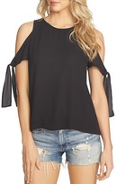 1 STATE 1.STATE Solid Cold-Shoulder Top