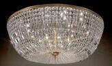 "House Of Hampton Genevieve 20 - Light 48"" Chandelier Style Tiered Semi Flush Mount House of Hampton Finish: Olde World Bronze, Crystal Type: Crystalique-Plus"