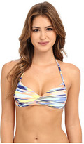 Roxy Smooth Ikat Wrap Halter Bra