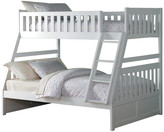 Carissa Twin Over Full Bunk Bed, White
