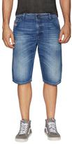 Diesel Kroshort Whiskering Denim Shorts