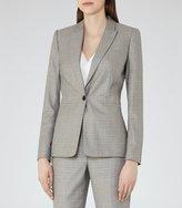Reiss Martine Jacket - Patterned Blazer in Black, Womens