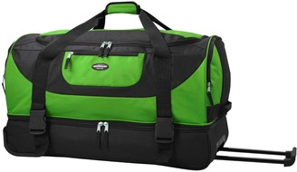 "Traveler's Club Travelers Club 30"" 2-Section Drop-Bottom Rolling Duffel"