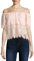 i jeans by Buffalo Lace Trim Crop Top