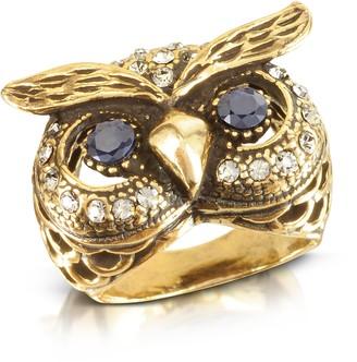 Alcozer & J Owl Brass Ring
