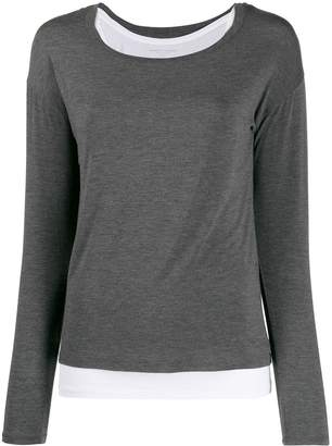 Majestic Filatures jersey stretch layered top