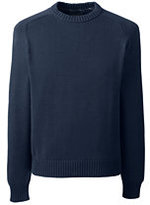 Lands' End Men's Big & Tall Drifter Cotton Crewneck Sweater-Sweet Persimmon