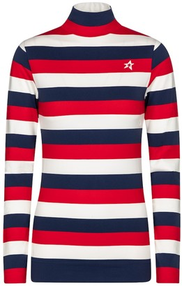Perfect Moment Striped thermal ski top