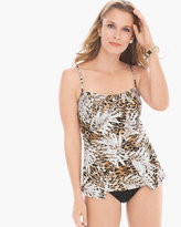 Chico's Sheer Safari Jubilee Tankini Top