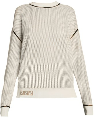 Fendi Micro-Mesh Long-Sleeve Tee
