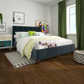 Andover Mills Amherst Upholstered Platform Bed Color: Tan, Size: Full