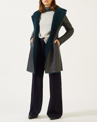 Jigsaw Reversible Italian Shearling Coat