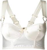Bordelle longline bodice bra - women - Silk/Spandex/Elastane - L