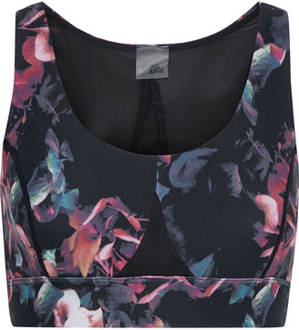 Iris & Ink Floral-print Stretch Sports Bra