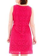 JCPenney 9 & Co.® Allover Lace Shift Dress - Plus