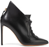 Francesco Russo Lace-up Leather Ankle Boots - Black