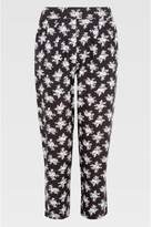 Select Fashion Fashion Womens Grey Ditsy Crop Soft Trouser - size 10