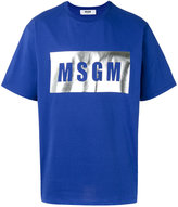 MSGM logo print T-shirt - men - Cotton - XL