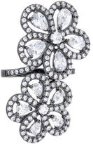 Kenneth Jay Lane Floral By Bass Ring