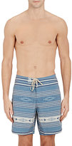 Faherty MEN'S STRIPED & FOLKLORIC-PRINT SWIM TRUNKS