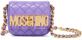 Moschino Neon Quilted Leather Shoulder Bag