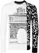 Versace contrast panel jumper