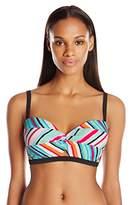 Coco Rave Women's Summer Patch Peek-A-Book Underwire Bikini Top