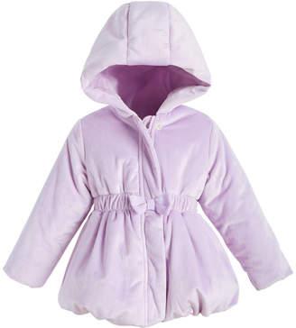 First Impressions Baby Girls Velvet Bubble Coat