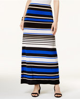 ECI Striped Maxi Skirt