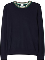 Paul Smith Navy Merino Wool And Silk Blend Jumper