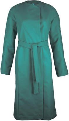 Format YUMI Green Moleskin Coat - L - Green