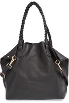 Street Level Slouchy Faux Leather Tote with Pouch