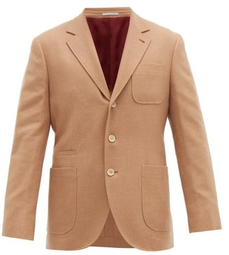 Brunello Cucinelli Single-breasted Wool-blend Blazer - Camel