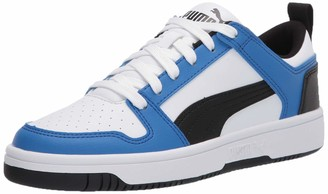 Puma Unisex-Child Rebound Layup Lo Sneaker White-Palace Blue Black 6.5 M US Big Kid