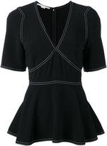 Stella McCartney peplum blouse - women - Viscose/Acetate/Spandex/Elastane - 38