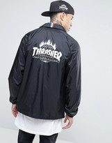 Huf X Thrasher Coach Jacket With Back Print