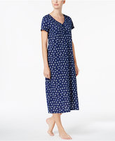 Charter Club Printed Cotton Knit Nightgown, Created for Macy's