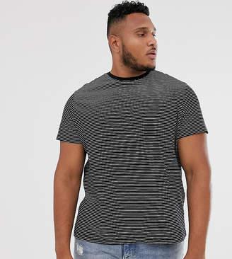 New Look Plus t-shirt in black stripe