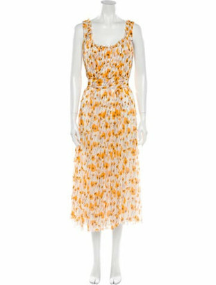 Oscar de la Renta 2007 Long Dress Orange