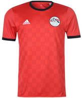 adidas Originals 2018-2019 Egypt Home Football Shirt Red