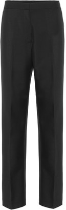 Jil Sander High-rise wool and mohair pants