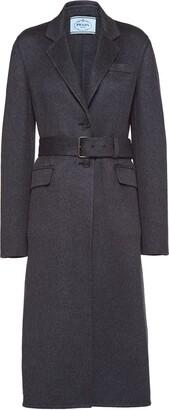 Prada Single-Breasted Belted Coat
